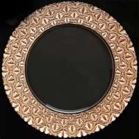 Modren Rose Gold Mosaic Glass Charger Plate (8-PK)