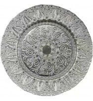 Silver Pearl glass Charger Plates (8-pk)