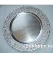 Silver Mosaic Charger Plates (24-PK)