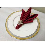 Rimmed Glass Charger Plate - Gold (8-PK)
