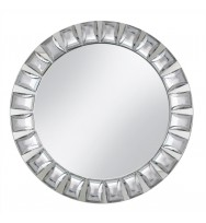 Diamond Mirror Glass Charger Plate-Silver (per piece)