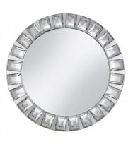 Diamond Mirror Glass Charger Plate-Silver (4-PK)