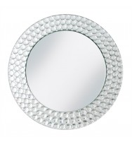 Mirror Glass Charger Plate-Silver (4-PK)