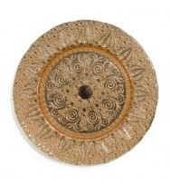 Champagne Gold glass Charger Plates (8-pk)