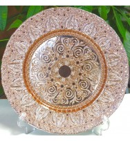 Rose Gold glass Charger Plates (8-pk)