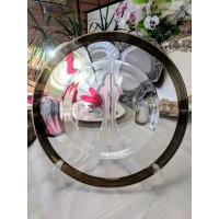 Glass Charger Plates-Gold Band (per piece)