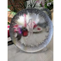 Glass Charger Plates-Silver Edge (per piece)