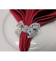 NR31- Silver Bowknot Napkin Ring
