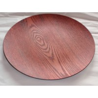 Faux Dark Wood Charger Plate (24-PK)