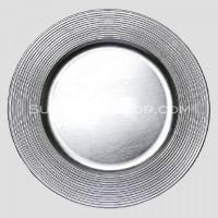 Silver Circles Charger Plates (24-PK)