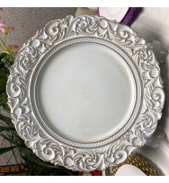White Aristocrat Charger Plate (1-Piece)