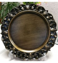 Antique Victorian Style Charger Plate (6 pc)