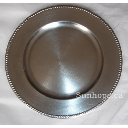 silver beaded charger plates 24 pk by sunhope