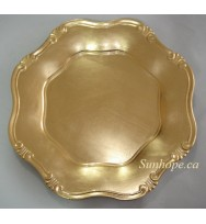 Gold Baroque Charger Plates (24-PK)