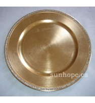 Gold Rhinestone Charger Plate (24-PK)