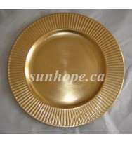 Gold Radiance Charger Plates (24-PK)