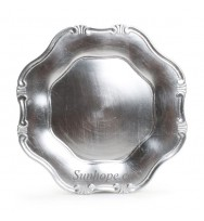 Silver Baroque Charger Plates (24-PK)