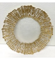 Splash Gold Glass Charger Plate (8-PK)