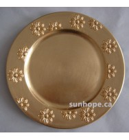Gold Flower Edge Charger Plates (24-PK)