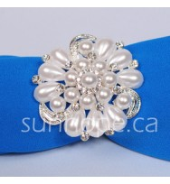 NR10- Pearl Flower Napkin Ring