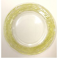 Huron Glass Charger Plates-Gold  (8pk)