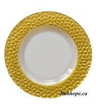 Gold Mosaic Glass Charger Plate  (8-PK)
