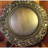Oak Floral Charger Plate (6pc)
