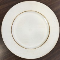 Ivory Charger Plates (24-PK)