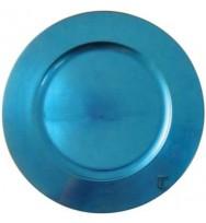 Light Blue Plain Charger Plate (24-PK)