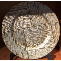 Light Wood Puzzle Charger Plate (1-Piece)