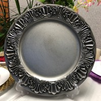 Shell-Silver Charger Plate (1-Piece)